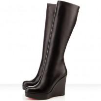 Louboutin Women's Garibaldi 100mm Boots Black