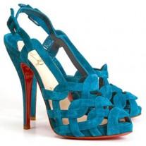 Louboutin Women's Larissandale 120mm Sandals Blue