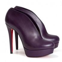 Louboutin Women's Miss Fast Plato 120mm Ankle Boots Black