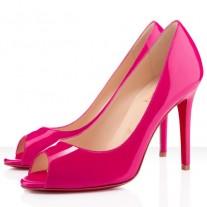 Louboutin Women's You You 100mm Peep Toe Pumps Hot Pink