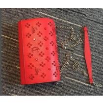louboutin Handbag purse read with red rivets