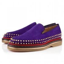 Louboutin Men's Fredapoitiers Loafers Purple