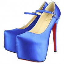 Louboutin Women's Lady Daf 160mm Mary Jane Pumps Blue