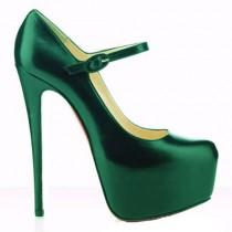 Louboutin Women's Lady Daf 160mm Mary Jane Pumps Green