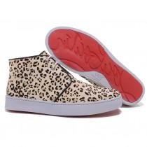 Louboutin Women's Leopard printed Sneakers Leopard