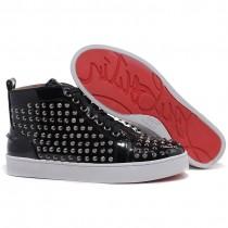 Louboutin Men's Louis Spikes Sneakers Black Sale