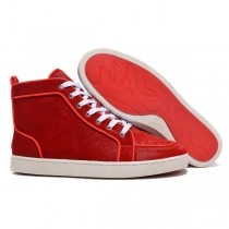 Louboutin Men's Rantulow Sneakers Red