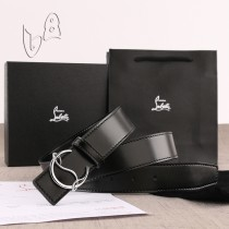 Christian Louboutin 3.5cm width Black Leather Belts