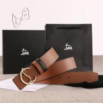 Christian Louboutin 3.5cm width Brown Leather Belts