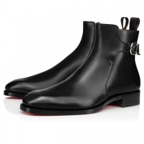 Christian Louboutin Ankle Boots Valido Flat Black Calf Men