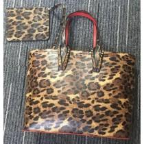 louboutin leather Handbag Leopard