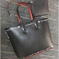 louboutin leather Handbag black