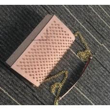 louboutin Handbag purse pink with golden rivets