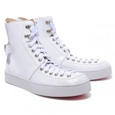 Louboutin Men's Alfie Sneakers White