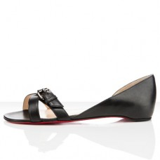Louboutin Women's Atalanta Flat Sandals Black