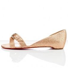 Louboutin Women's Atalanta Flat Sandals Nude