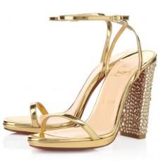 Louboutin Women's Au Palace 120mm Sandals Gold