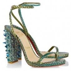 Louboutin Women's Au Palace 120mm Sandals Green