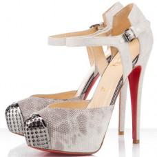 Louboutin Women's Boulima Exclusive D'orsay 120mm Sandals Stone