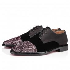 Louboutin Men's Bruno Orlato Glitter Loafers Rose Antique