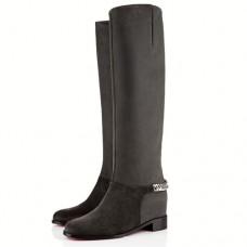 Louboutin Women's Cate 40mm Boots Grey