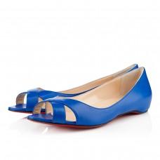 Louboutin Women's Croisette Flat Sandals Blue