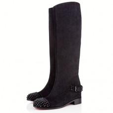 Louboutin Women's Egoutina 40mm Boots Black