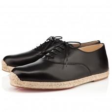 Louboutin Men's Esparfred Sandals Black