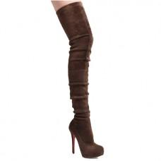Louboutin Women's Gazolina 140mm Boots Brown