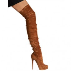 Louboutin Women's Gazolina 140mm Boots Chocolate