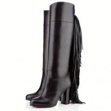 Louboutin Women's Glamafrange 80mm Boots Black