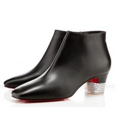 Louboutin Women's Gloria 40mm Ankle Boots Black