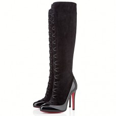 Louboutin Women's Gwendoline 100mm Boots Black