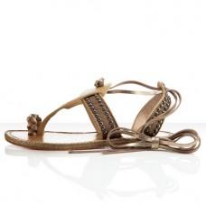 Louboutin Women's Hola nina Flat Sandals Camel