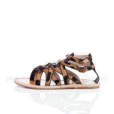 Louboutin Women's Hola nina Flat Sandals Leopard