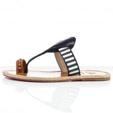 Louboutin Women's Hola nina Flat Sandals Navy