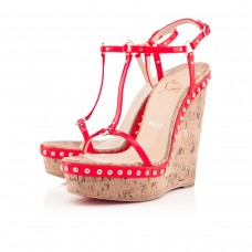 Louboutin Women's Jamie Lee 140mm Sandals Rose Paris