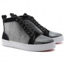Louboutin Women's Louis Jeweled Sneakers Black