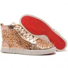 Louboutin Men's Louis Pik Pik Sneakers Bronze