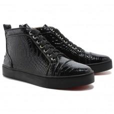Louboutin Women's Louis Python Sneakers Black