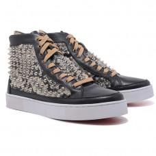 Louboutin Women's Louis Spikes Sneakers Black Sale