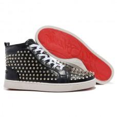 Louboutin Men's Louis Spikes Sneakers Black