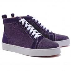 Louboutin Women's Louis Strass Sneakers Parme