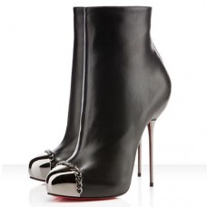 Louboutin Women's Metaliboot 120mm Ankle Boots Black