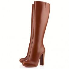 Louboutin Women's MiraBelle 120mm Boots Brown