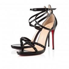 Louboutin Women's Monocronana 120mm Sandals Black