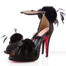 Louboutin Women's Pluminette 120mm Sandals Black