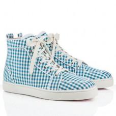 Louboutin Men's Rantulow Sneakers Blue