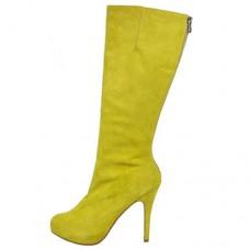 Louboutin Women's Simple Botta 100mm Boots Yellow
