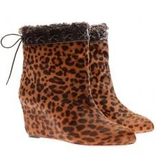 Louboutin Women's Toufure 80mm Ankle Boots Leopard